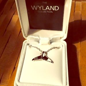 "Sterling Silver ""WYLAND"" Whales Tail"